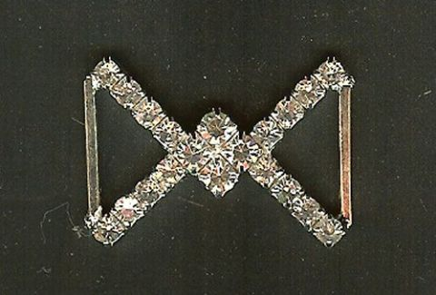 Diamante Crossed Trim